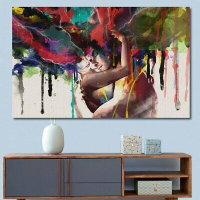 LARGE Canvas Print Room Wall Art Pictures Decor Abstract Couple Painting  G