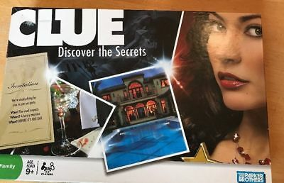 CLUE Discover The Secrets Board Game By Parker Brothers 2008 100% COMPLETE