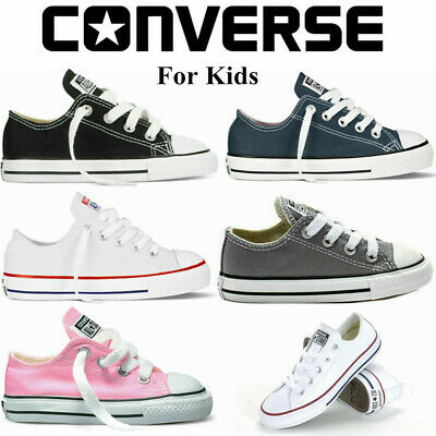 Converse Sneakers Boys/Girls Kids Child Canvas Shoes All Star Low Top Trainers