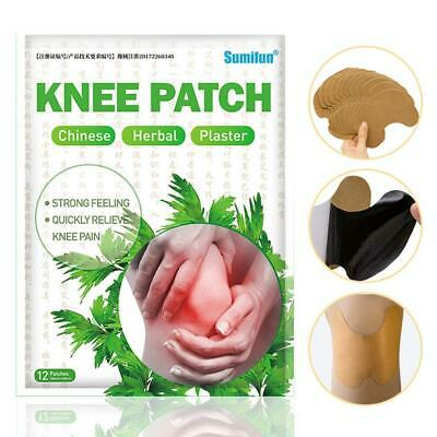 12PCS Herbal Ginger Patch Neck Pads Body Detox Knee Pain Relief Self-heating