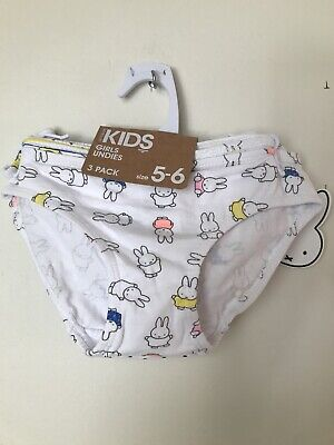 cotton on girls undies 3pack size 5-6 Nwt