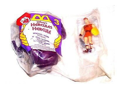 90's McDonalds Coca Cola Ronald McDonald Hercules Happy Meal Toy Card Gift Ofr