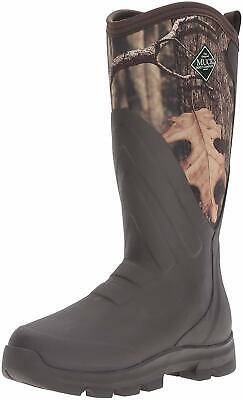 Muck Boot Woody Grit Rubber Men's Work/Hunting Boot, Brown/Mossy Oak, Size 9.0 b