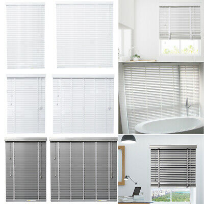 PVC FAUX WOOD VENETIAN WOODEN WINDOW BLINDS 50MM SLATS WITH TAPE HOME OFFICE UK