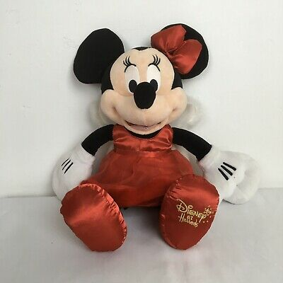 Disney at Harrods Minnie Mouse Angel 16 inch Red Dress Christmas Plush Soft Toy
