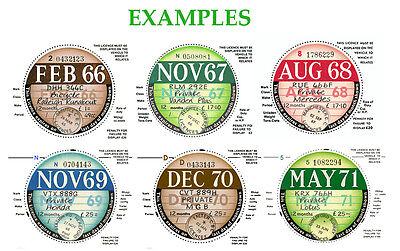Tax Discs 2 Quality Replica Reproduction For Discerning Owners From 1921-2041