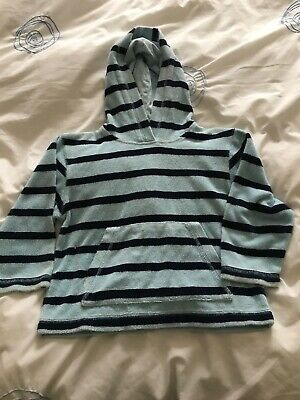 Mini Boden Towelling Beach Top Blue Stripe Throw On Towel Age 3-4 Years