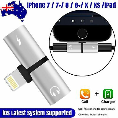 Dual Lightning Splitter Adapter Double Headphone Charge For iPhone XS MAX XR 8 7