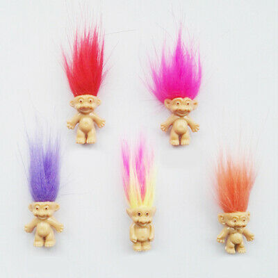 100 lot Troll Dolls Miniature Action Figure Dollhouse Collectable Toys