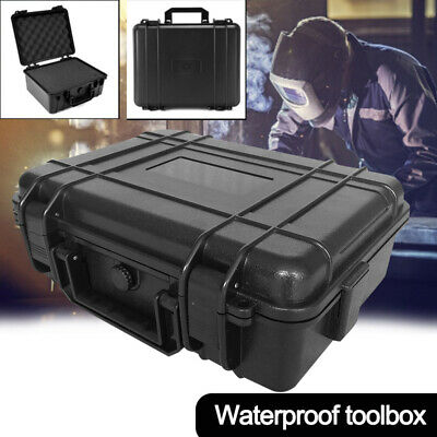 Abs Plastic Toolbox Waterproof Shockproof Instrumentation Box Glare Flashlight