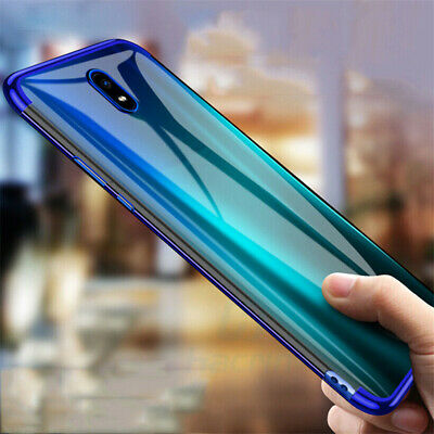 For Xiaomi Redmi 8A Note 8 Pro Shockproof Plating Clear Soft Gel TPU Case Cover