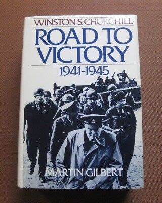 WINSTON CHURCHILL ROAD TO VICTORY by Martin Gilbert - 1st/1st HCDJ 1986 WWII