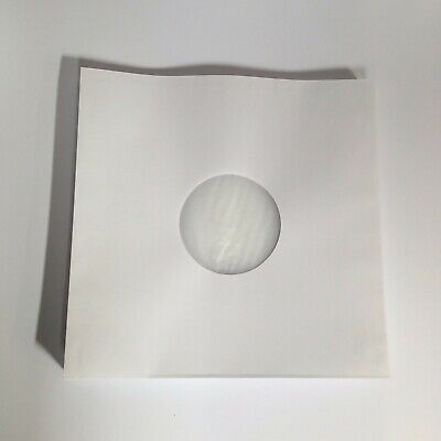 """LP/12"""" Anti-Static Poly lined White Inner Paper Record Sleeves, Pack of 25"""
