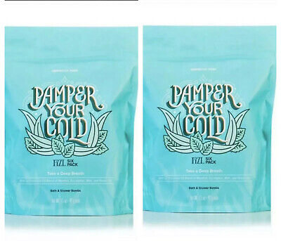 *TWO Perfectly Posh Bath Bomb Pamper Your Cold Menthol Eucalyptus Camphor 6 Pack