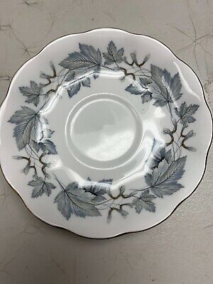 Vintage ROYAL ALBERT Bone China England SILVER MAPLE Saucer MINT