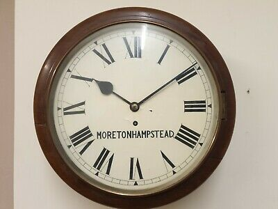 12 inch Fusee 8 Day Dial/Station/School Moretonhampstead C1890 Mahogany Case