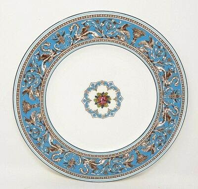 Wedgwood Turquoise Florentine W2714 10.75 Inch Dinner Plate Second Quality