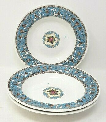 Wedgwood Turquoise Florentine W2714 3 x 8 Inch Rimmed Soup Bowl Unfinished 2nds