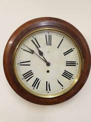 12 inch  8 Day  Dial/Station/School  Mahogany Case By Baden C1900
