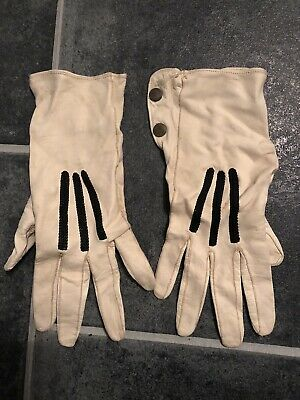True Vintage Kid Leather Gloves Fownes Oxford Street West Cream 7 1/4
