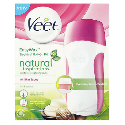 Veet EasyWax Electrical Roll-On Starter Kit All Skin Types - UK Plug - Easy Wax