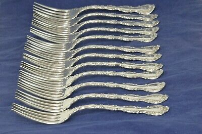 "Lot 12 Gorham Strasbourg Sterling Silver Forks 7 5/8"" - 783g - 25,17 Troy Ounces"