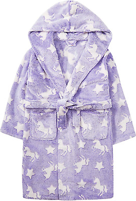 Metzuyan Infant Girls Unicorn Dressing Gown Novelty Robe Detachable Tail Heart