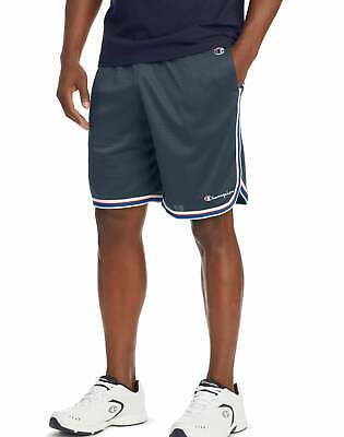 Champion Pockets Mens Basketball Shorts Lightweight Core Stripes Breathable
