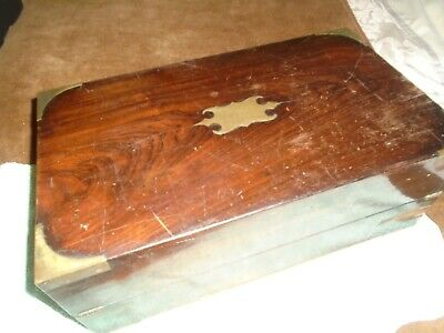 Antique Campaign Style,Rosewood Writing Slope With Drawer For Restoration/Spares
