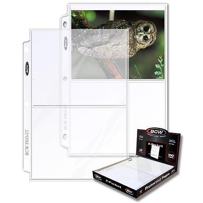 """10 loose BCW 2 Pocket Album Pages Postcard Photograph Sheets Holders 5 x 7"""""""