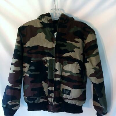 Walls Blizzard Proof Hunting Forest Woods Camo Jacket Coat Hood Large 12/14