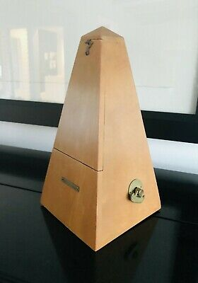 Vintage SETH THOMAS De Maezel NO 8 Wind up Wood Metronome Works USA 6504 Piano