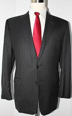 Hickey Freeman Madison Gray Two Button Super 130s Wool Suit 40 Regular 33 30 40R