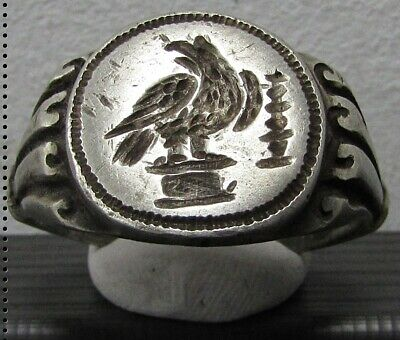 ** AQUILA - LEGIONARY EAGLE ** Ancient Silver Legionary Roman Ring **AMAZING **