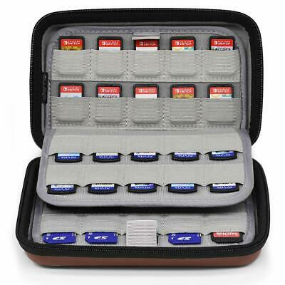 Sisma 80 Game Card Case for Nintendo Switch PS Vita Games and SD Memory Cards,