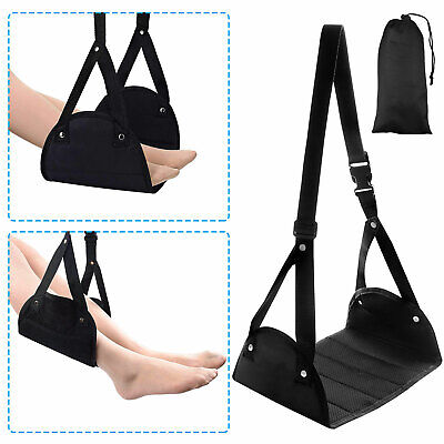 Portable Comfy Memory Foam Airplane Footrest Travel Carry-On Foot Rest Hammock