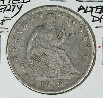 1849/ 1819 Seated Liberty 50c Half Dollar XF Details Altered Date