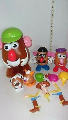 2002 Hasbro Mr Potato Head Lot With Large Mr Potato Head Case & Toy Story Woody
