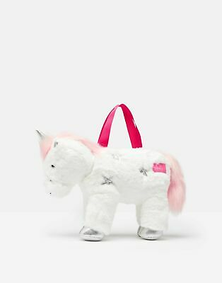 Joules Girls Sparkle Unicorn Bag in WHITE in One Size