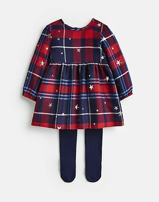 Joules Baby Macy Woven Dress And Tight Set in RED CHECK