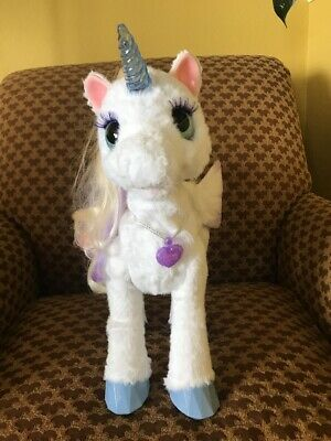 FurReal Friends My Magical Unicorn StarLily Interactive Lights Up Moves Sounds