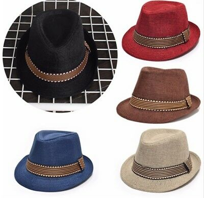 52cm Fashion Children Kids Boys Girls Jazz Felt Hat Unisex Caps Sunhat CY2