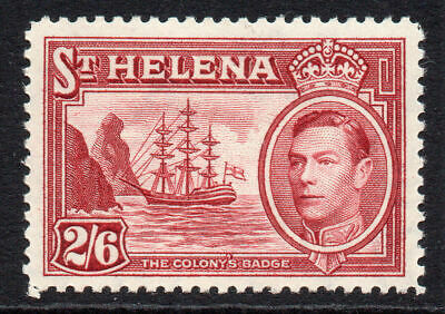 St Helena 2/6 Stamp c1938-44 Mounted Mint