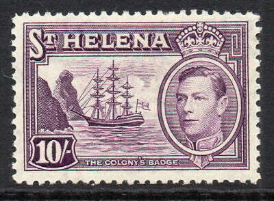 St Helena 10/- Stamp c1938-44 Mounted Mint