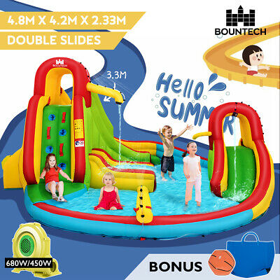 Inflatable Water Slide Water Park Jumping Castle Splash Toy Outdoor Bounce House
