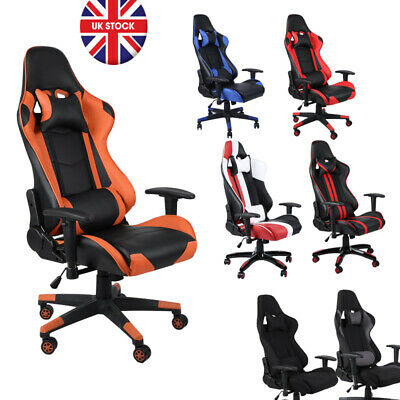 11 Color Racing Gaming Office Chair Executive Lumbar Support Pu Leather Ca