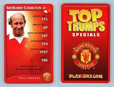 Sir Bobby Charlton - Manchester United 2003 Top Trumps Specials Card