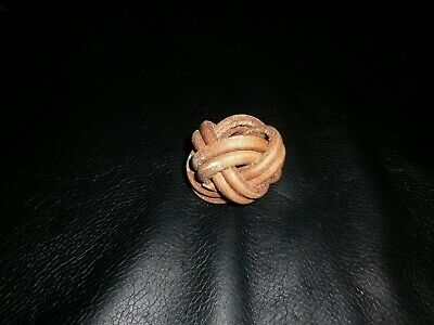 Scouts Turks Head Woggle Leather Old Collectable