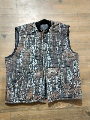 Camouflage insulated Mens vest Outdoor  Hunting Fishing  size L Realtree