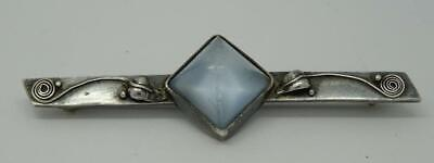 Beautiful Antique English Sterling Silver Arts & Crafts Moonstone Brooch c1900